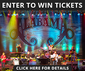 Enter to win tickets to see Alabama in concert